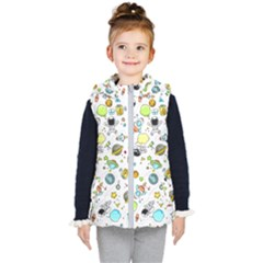 Space Pattern Kid s Hooded Puffer Vest