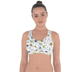 Space Pattern Cross String Back Sports Bra