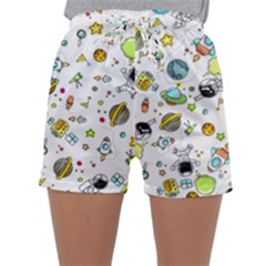 Space Pattern Sleepwear Shorts