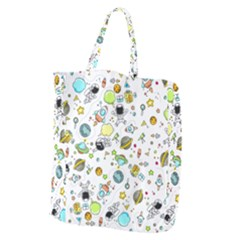 Space Pattern Giant Grocery Zipper Tote