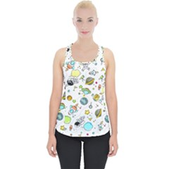 Space Pattern Piece Up Tank Top
