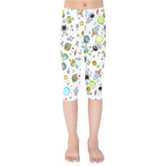 Space Pattern Kids  Capri Leggings