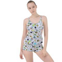 Space Pattern Boyleg Tankini Set