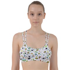 Space Pattern Line Them Up Sports Bra