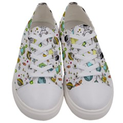 Space Pattern Women s Low Top Canvas Sneakers