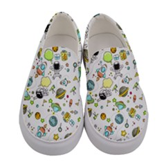 Space Pattern Women s Canvas Slip Ons