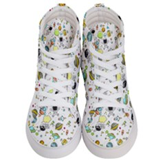 Space Pattern Women s Hi Top Skate Sneakers