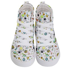 Space Pattern Kid s Hi Top Skate Sneakers