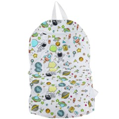 Space Pattern Foldable Lightweight Backpack