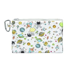 Space Pattern Canvas Cosmetic Bag (medium)