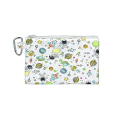 Space Pattern Canvas Cosmetic Bag (small)