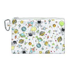 Space Pattern Canvas Cosmetic Bag (large)