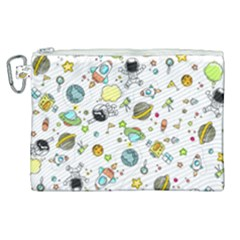 Space Pattern Canvas Cosmetic Bag (xl)