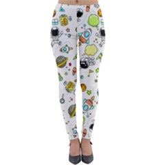 Space Pattern Lightweight Velour Leggings