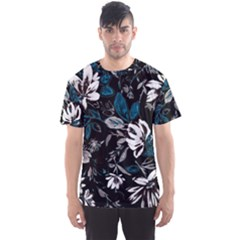 Floral Pattern Men s Sports Mesh Tee