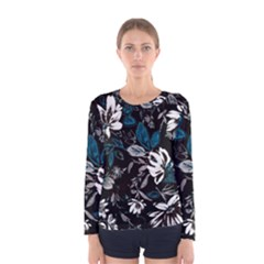 Floral Pattern Women s Long Sleeve Tee