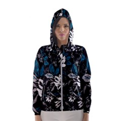 Floral Pattern Hooded Wind Breaker (women)