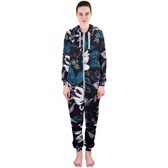 Floral Pattern Hooded Jumpsuit (ladies)