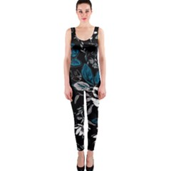 Floral Pattern One Piece Catsuit