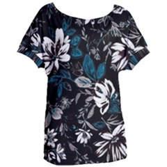Floral Pattern Women s Oversized Tee