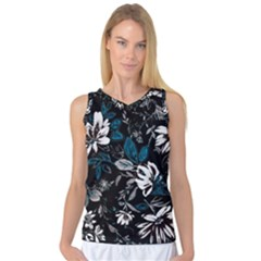 Floral Pattern Women s Basketball Tank Top