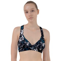 Floral Pattern Sweetheart Sports Bra