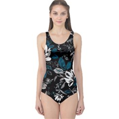 Floral Pattern One Piece Swimsuit