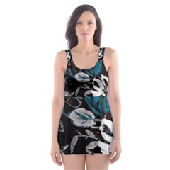 Floral Pattern Skater Dress Swimsuit