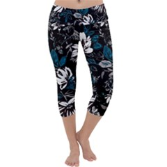 Floral Pattern Capri Yoga Leggings