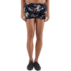 Floral Pattern Yoga Shorts