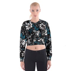Floral Pattern Cropped Sweatshirt