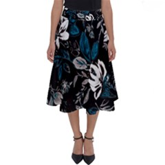 Floral Pattern Perfect Length Midi Skirt