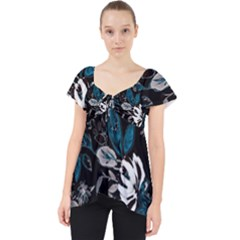 Floral Pattern Lace Front Dolly Top