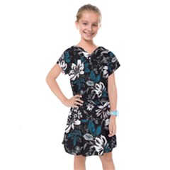 Floral Pattern Kids  Drop Waist Dress