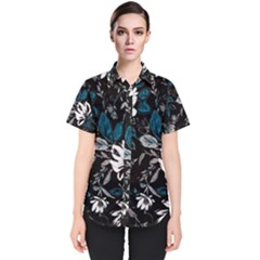 Floral Pattern Women s Short Sleeve Shirt