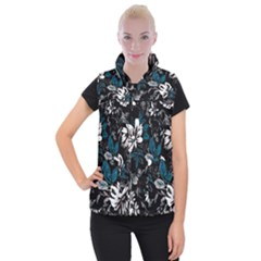 Floral Pattern Women s Button Up Vest