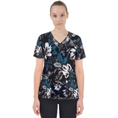 Floral Pattern Scrub Top