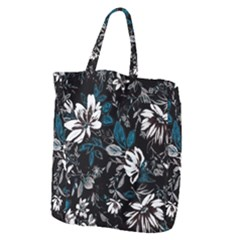 Floral Pattern Giant Grocery Zipper Tote
