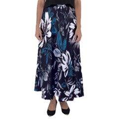 Floral Pattern Flared Maxi Skirt