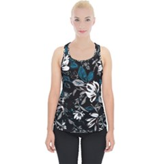 Floral Pattern Piece Up Tank Top