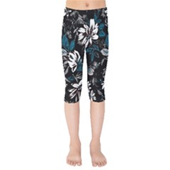 Floral Pattern Kids  Capri Leggings