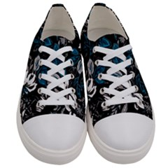 Floral Pattern Women s Low Top Canvas Sneakers