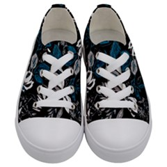 Floral Pattern Kids  Low Top Canvas Sneakers