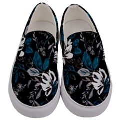 Floral Pattern Men s Canvas Slip Ons