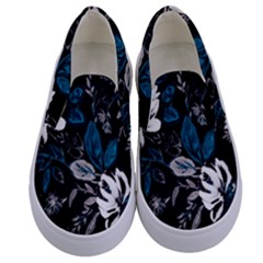 Floral Pattern Kids  Canvas Slip Ons