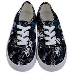 Floral Pattern Kids  Classic Low Top Sneakers