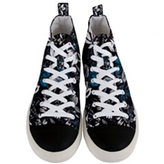 Floral Pattern Men s Mid Top Canvas Sneakers