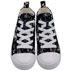 Floral Pattern Kid s Mid Top Canvas Sneakers