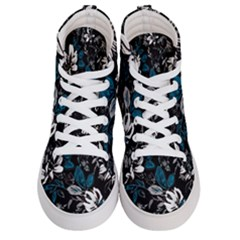 Floral Pattern Women s Hi Top Skate Sneakers