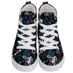 Floral Pattern Kid s Hi Top Skate Sneakers